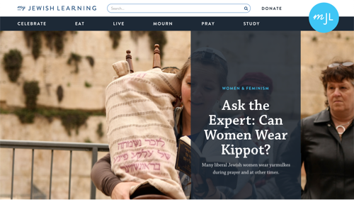 Screenshot of the My Jewish Learning site