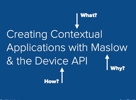 How, what, and why of contextual applications